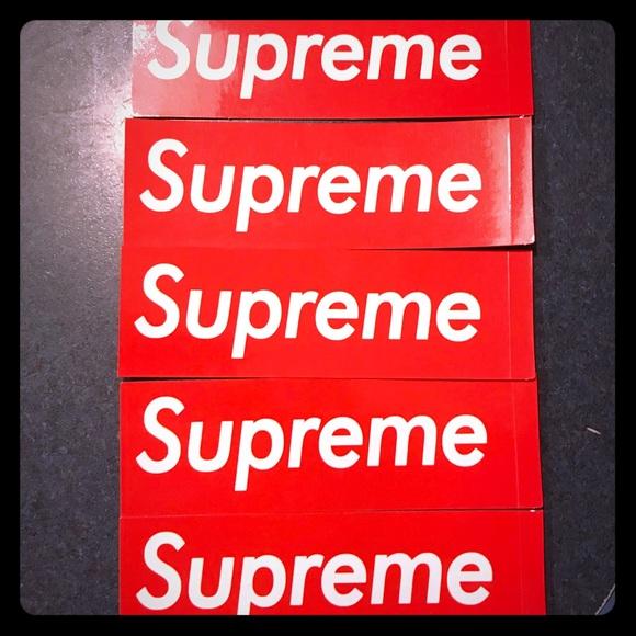 Supreme Accessories Mini Box Logo Stickers Poshmark
